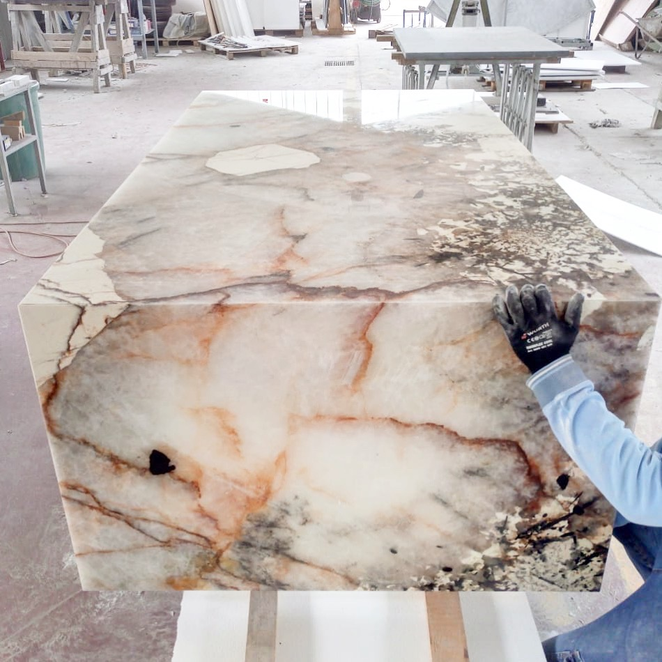 Spectacular Patagonia granite in production