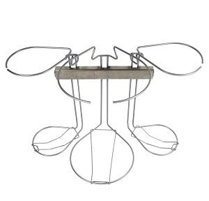 Køkken affaldssorteringssystem Flower: 3 delt fra 60 cm køkkenlåge med clicl -in beslag
