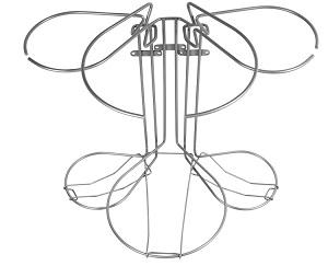 Køkken affaldssorteringssystem Flower: 3 delt fra 45 cm køkkenlåge