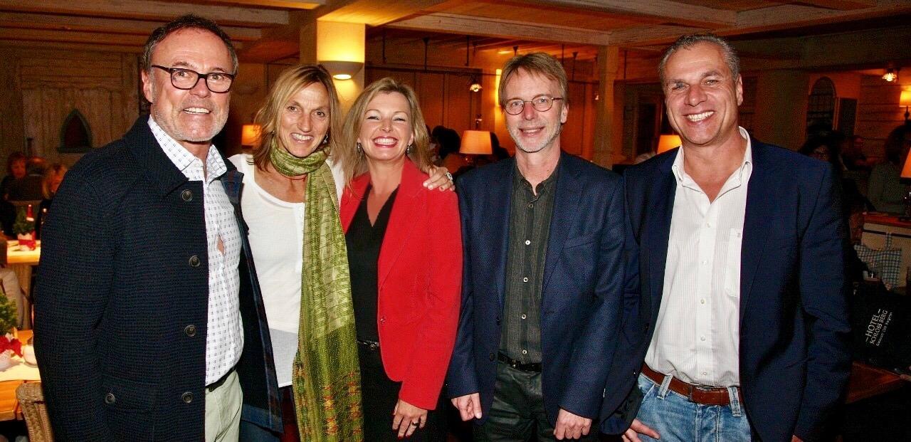 Foto: Panellisten und Moderator von BergSpektiven, Club 100