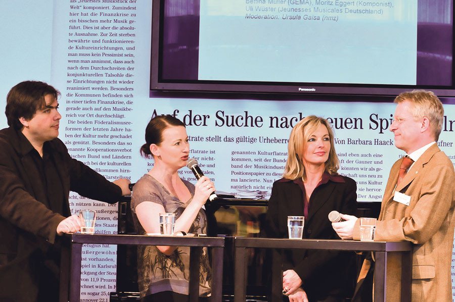 Link: Bettina Miserre bei Podiumsdiskussion des NMZ-Panels, Musikmesse Frankfurt
