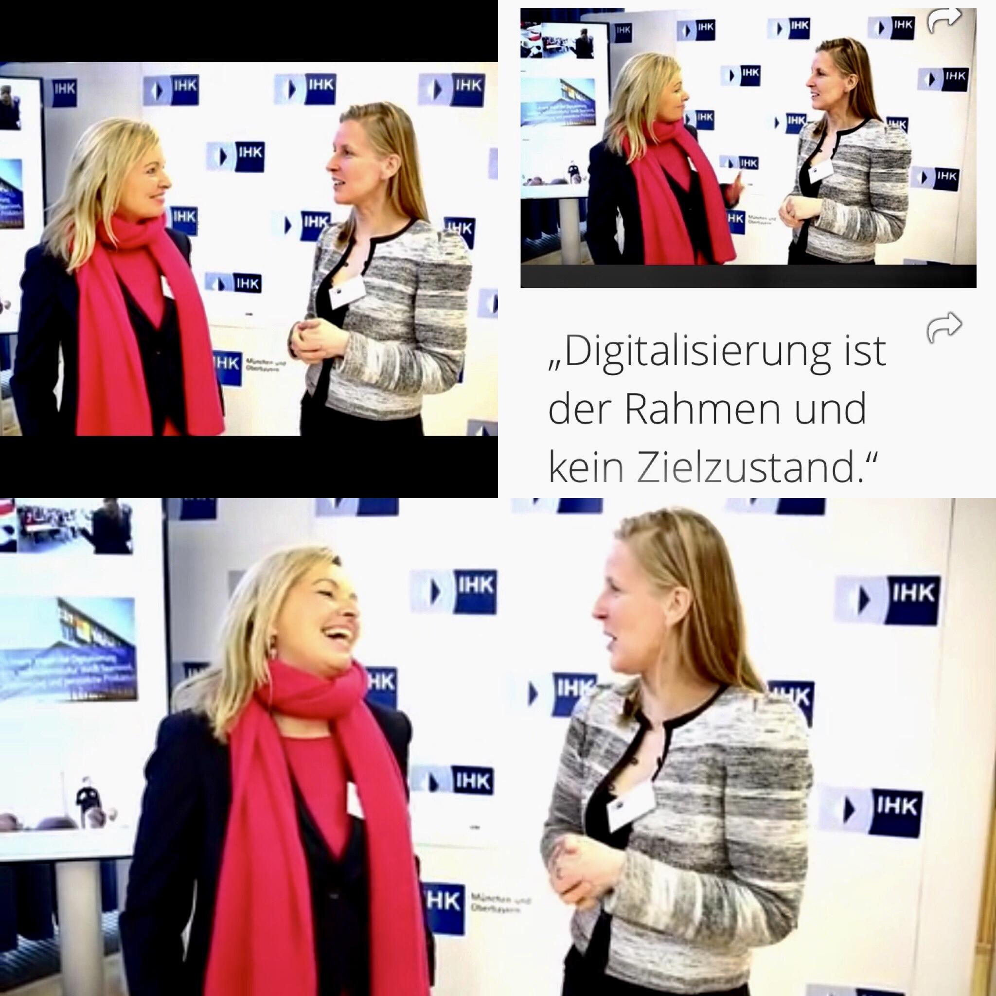 """Videostatement mit Google-Kollegin, """"Digital Work"""" Konferenz"""