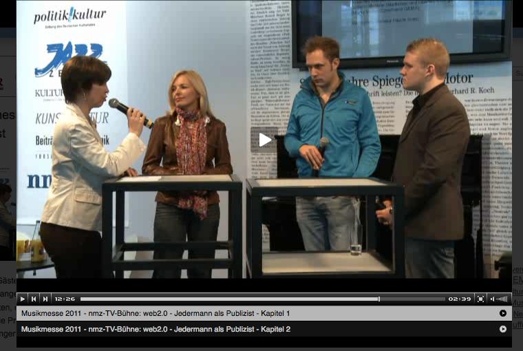 Link: Bettina Miserre bei Podiumsdiskussion der NMZ, Musikmesse Frankfurt