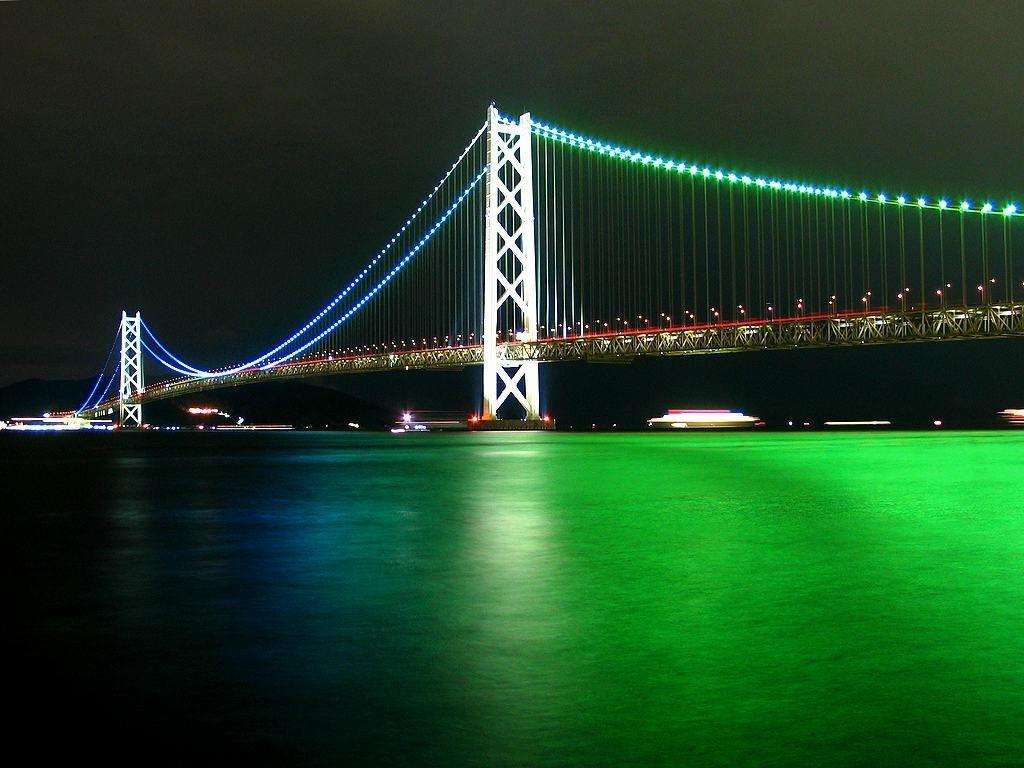 明石海峡大橋(グリーン)