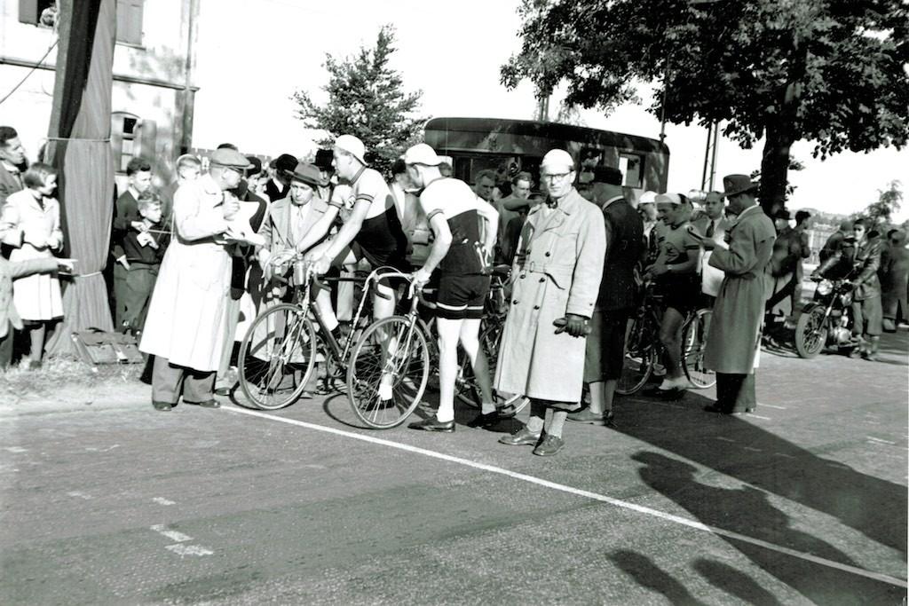 Kurz vor dem Start - Karl-Heinz Hoppe (Hut) und Heinz Müller