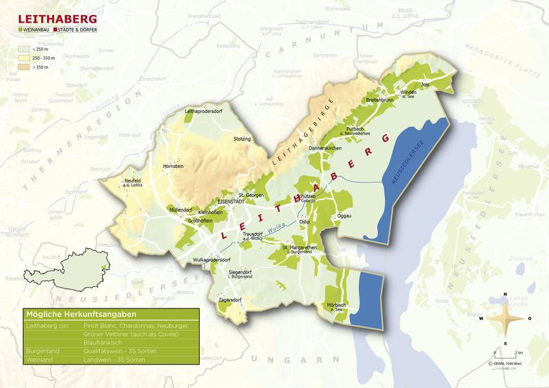 Topografische Karte Leithaberg - ÖWM/Photograph