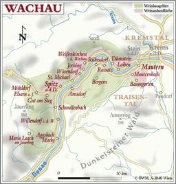 Weinanbauflächenkarte Wachau - ÖWM/Photograph