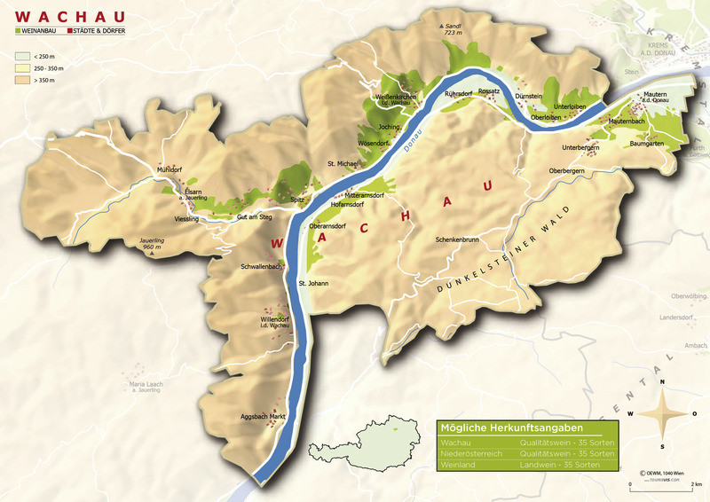 Topografische Karte Wachau - ÖWM/Photograph