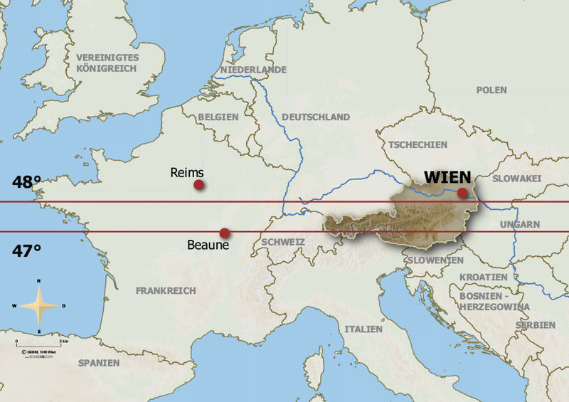Europakarte (Deutsch) - ÖWM/Photograph