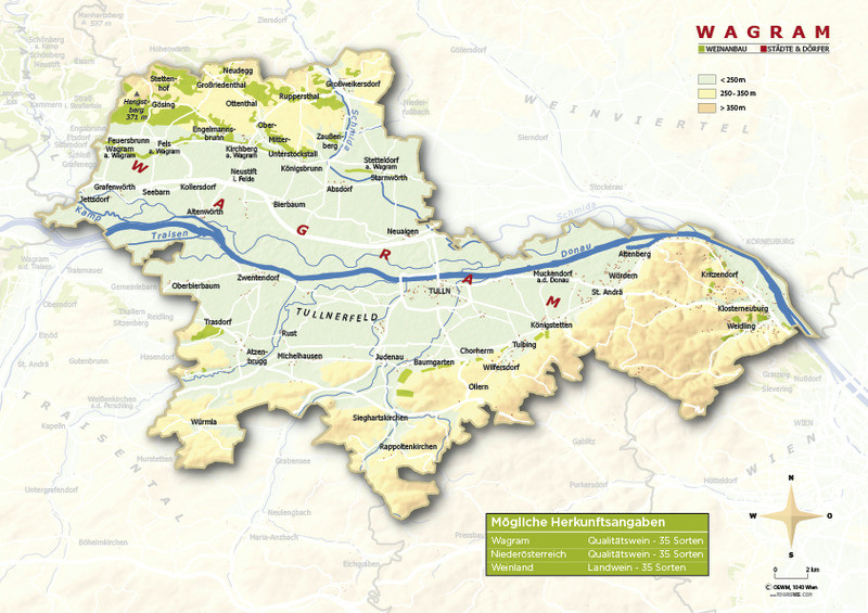 Weinanbauflächenkarte Wagram - ÖWM/Photograph