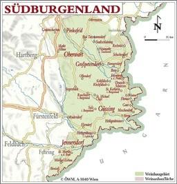 Weinanbauflächenkarte Südburgenland - ÖWM/Photograph