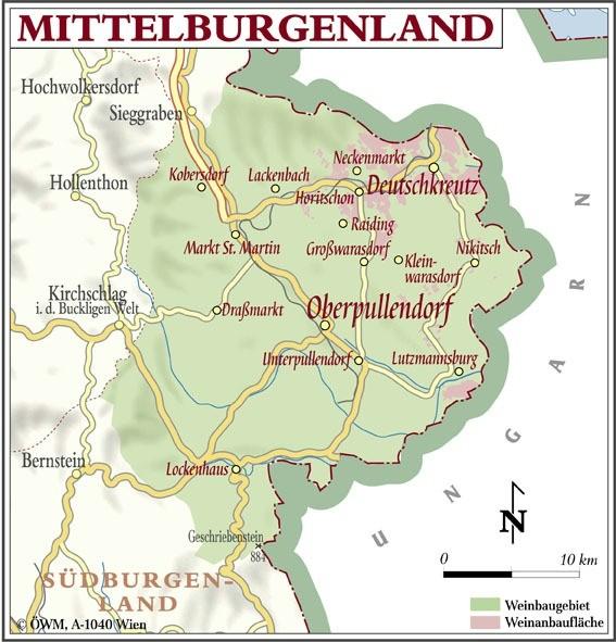 Weinanbauflächenkarte Mittelburgenland - ÖWM/Photograph
