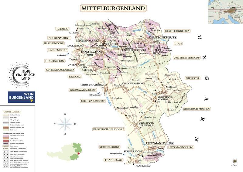 Riedenkarte Mittelburgenland - ÖWM/Photograph