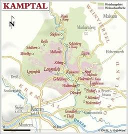 Weinanbauflächenkarte Kamptal - ÖWM/Photograph