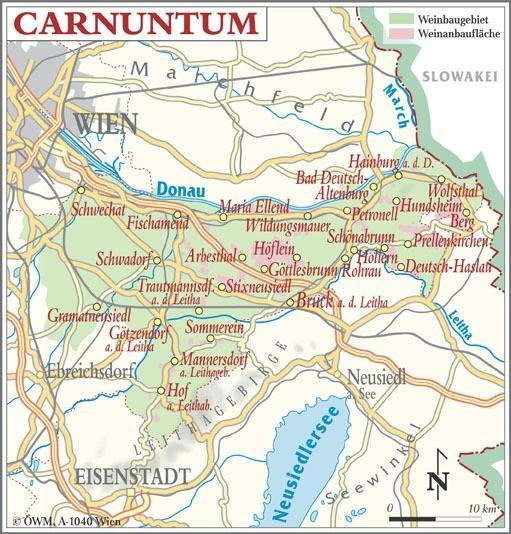 Weinanbauflächenkarte Carnuntum - ÖWM/Photograph