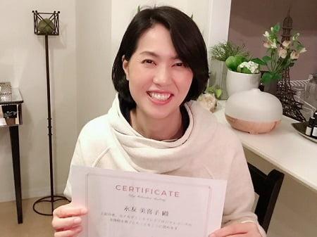 東京リラックセーションアカデミースクールブログ。リンパケアリストコース卒業生永友さんの写真