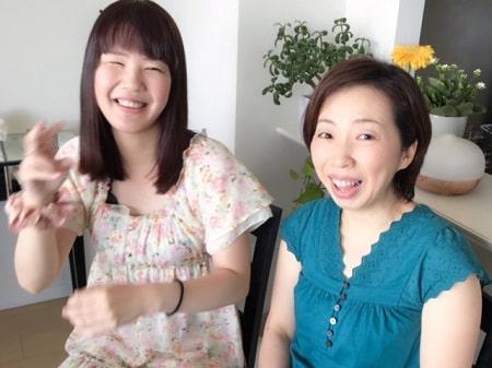ボディセラピストコース在校生菅野さんとレッスンモデルで来てくださったボディセラピストコース卒業生桑名さん