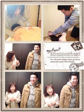 東京リラックセーションアカデミースクールブログ。リンパセラピストコース在校生小林さんとボディケアリストコース在校生小幡さんの写真