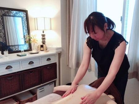 東京リラックセーションアカデミースクールブログ。ボディセラピストコース染井さんの写真