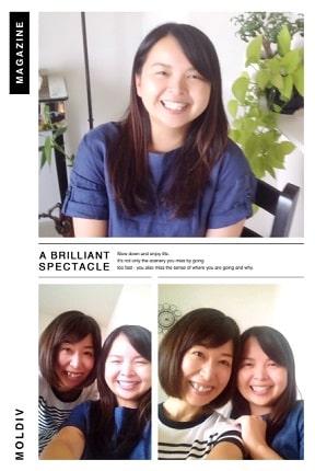 東京リラックセーションアカデミースクールブログ。ヘッドマッサージ講習受講生三好さんの写真