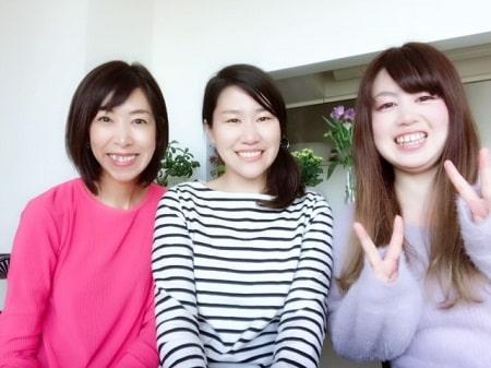 ボディセラピストコース在校生関口さんとリンパセラピストコース卒業生篠崎さん