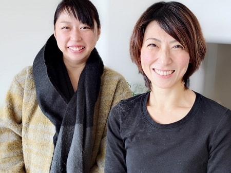 ボディセラピストコース在校生仲田さんとアロマセラピストコース卒業生伊藤さん