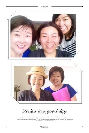 東京リラックセーションアカデミースクールブログ。寝て行うヘッドマッサージ、目の疲れ20分コースが学べる講習受講生の方の写真