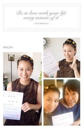東京リラックセーションアカデミースクールブログ。全身リンパオイルトリートメントコース卒業生ミエンさんの写真