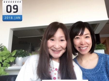 東京リラックセーションアカデミースクールブログ。ヘッドマッサージ講習受講生菅原さんとの2人の記念写真
