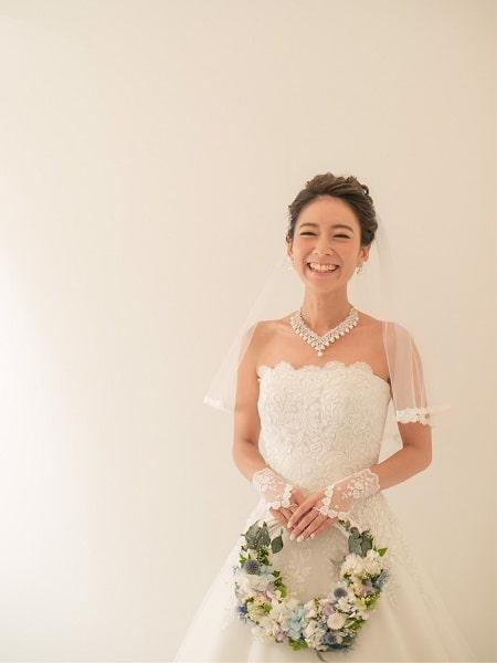 東京リラックセーションアカデミースクールブログ。リンパセラピストコース卒業生伊藤さんのウエディングドレス姿