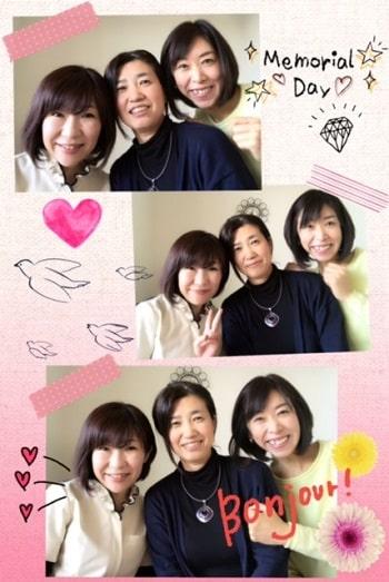 東京リラックセーションアカデミースクールブログ。リンパケアリストコース在校生栗原さんと河西さんとの3人の記念写真