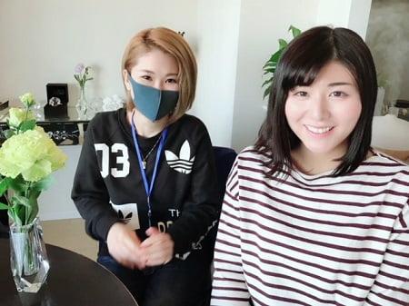 東京リラックセーションアカデミースクールブログ。ボディセラピストコース在校生加藤さんとリンパケアリストコース卒業生関口さん