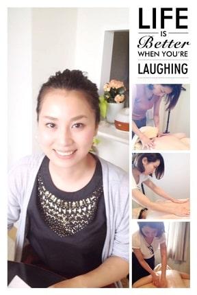 東京リラックセーションアカデミースクールブログ。全身リンパオイルトリートメントコース在校生ミエンさんの写真