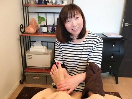 東京リラックセーションアカデミースクールブログ。ボディセラピストコース在校生染井さんの写真
