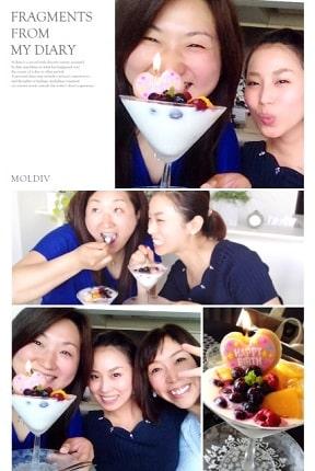 東京リラックセーションアカデミースクールブログ。全身リンパオイルトリートメントコース在校生ミエンさんとリンパセラピストコース卒業生三浦さんの写真