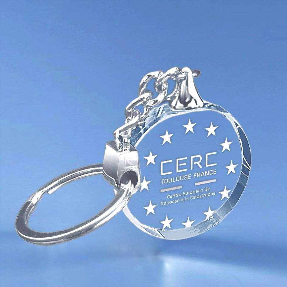 Gravure sur porte-clé CERC