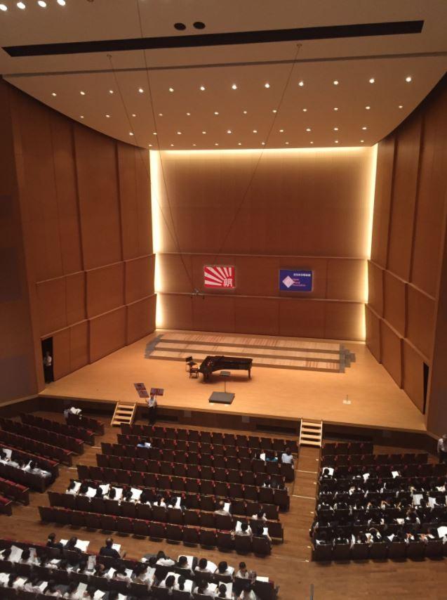 0820. 広島県大会。新しい素敵なホールでした