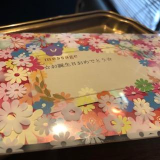 年末に娘夫婦より誕生日のプレゼントを頂き・・