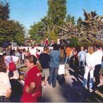 la prima festa di MenteInPace al Parco della Resistenza a Cuneo