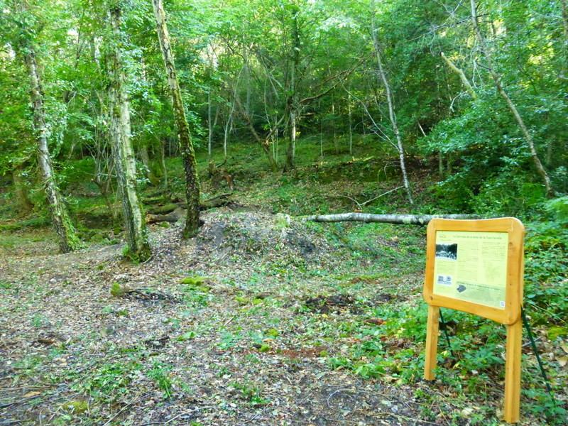 St Perdoux - Les mines de la Tourterelle débroussaillées