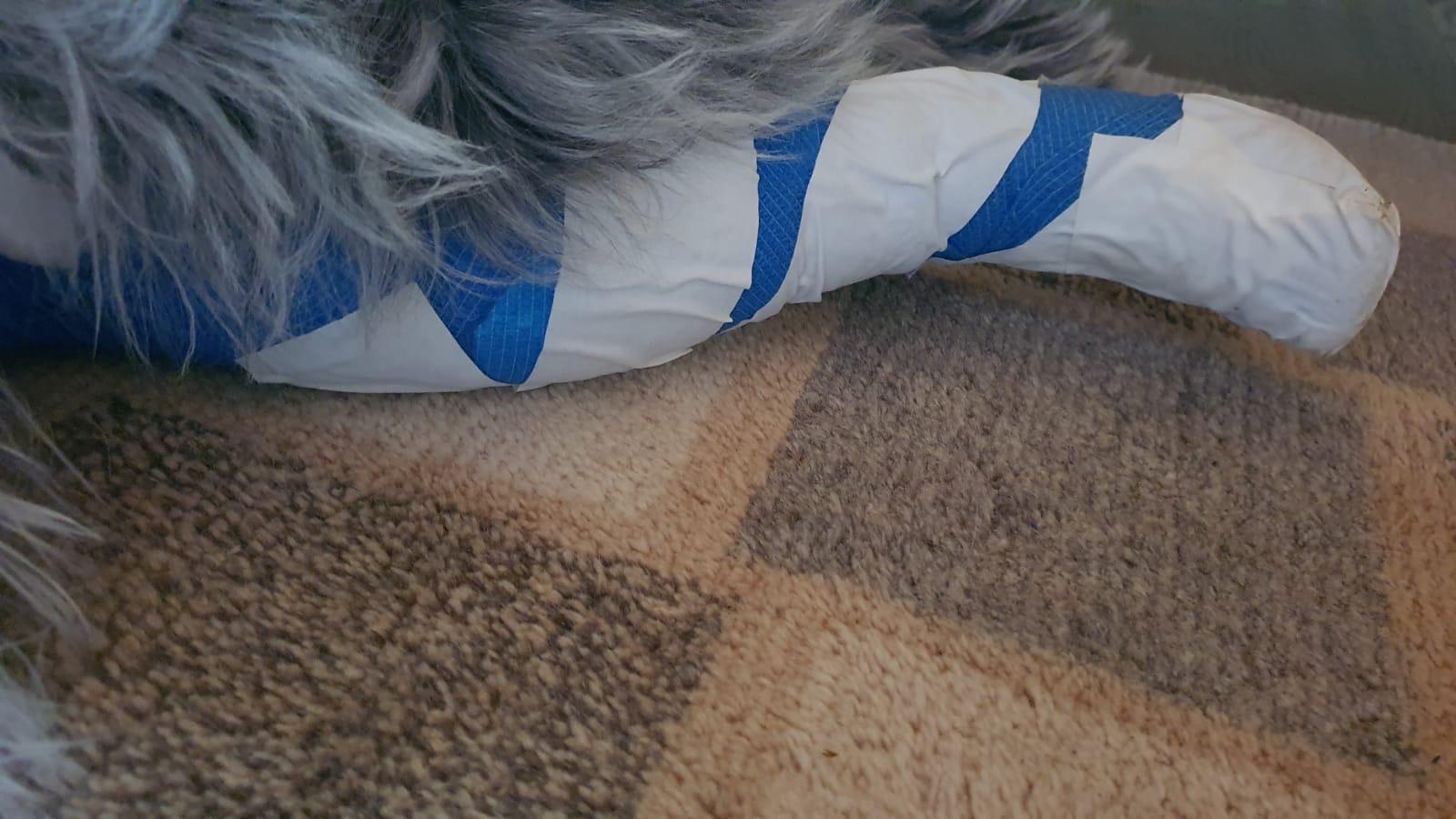 ..nix mit Verband ab , nochmal in blau