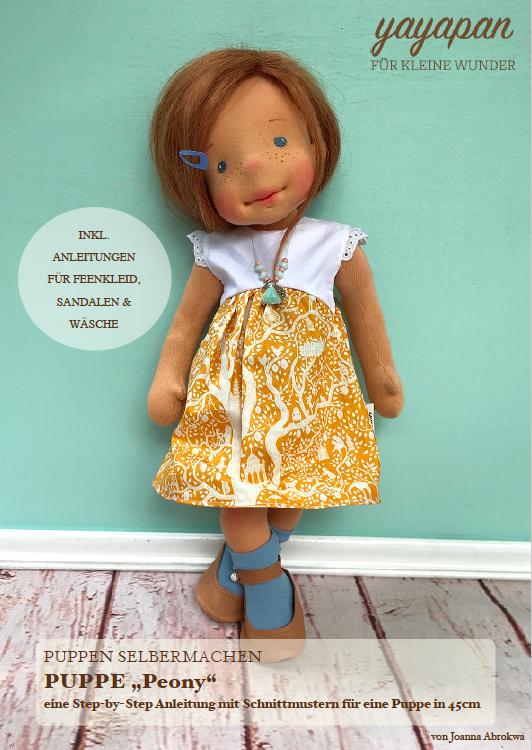 29 cm groß ca mit Liebe zum Detail gearbeitet Hangefertigte Puppe