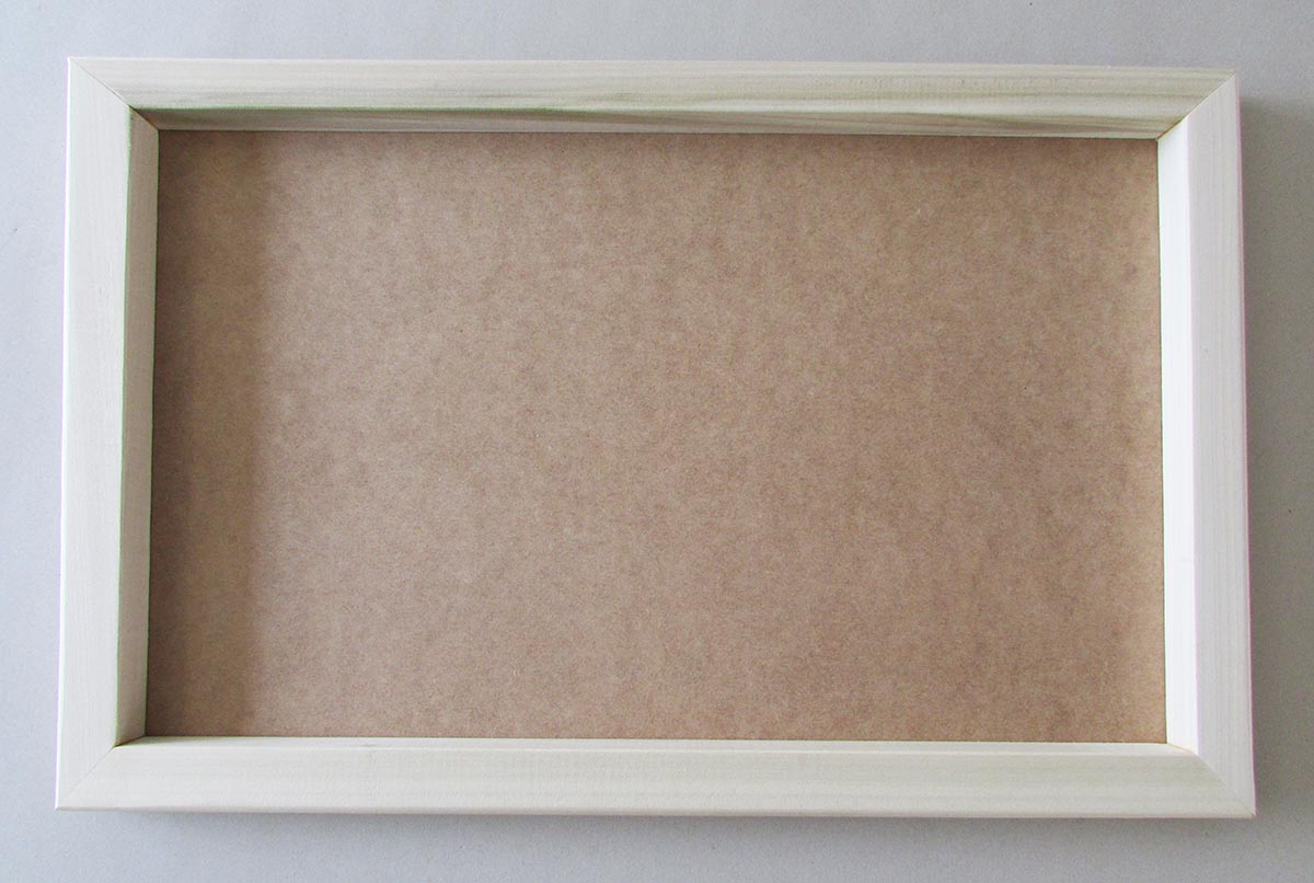 Back of box canvas frame