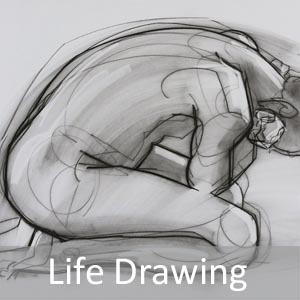 fine art life drawings charcoal pencil