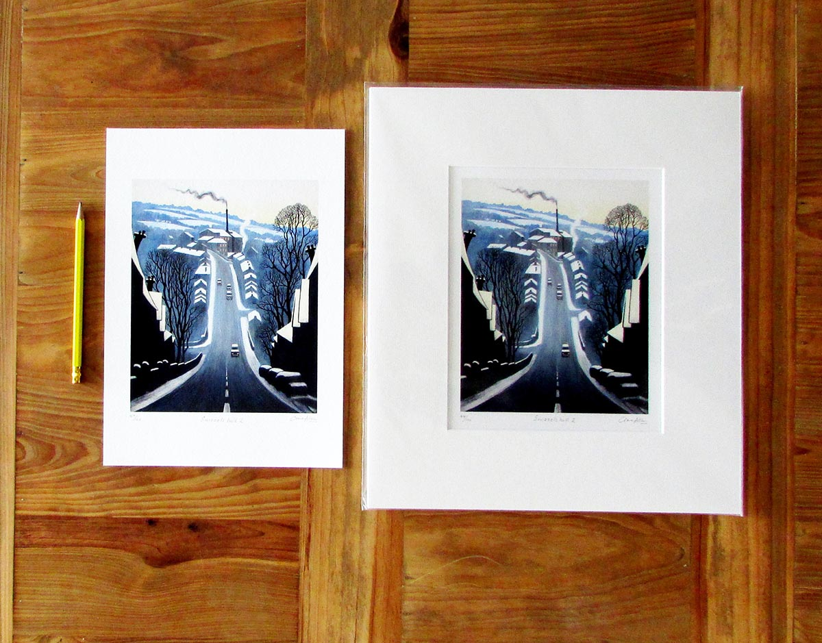 An A4 unmounted and mounted paper print
