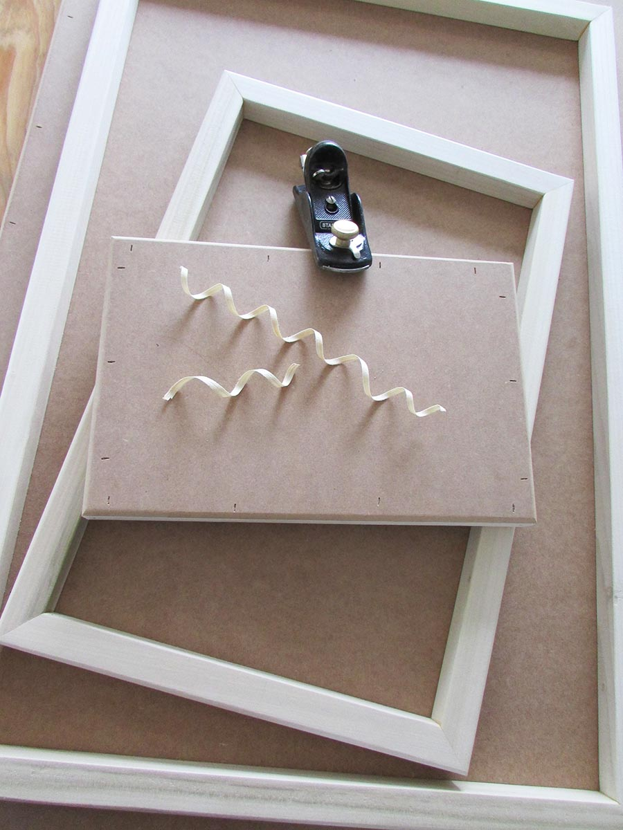 Selection of canvas frames
