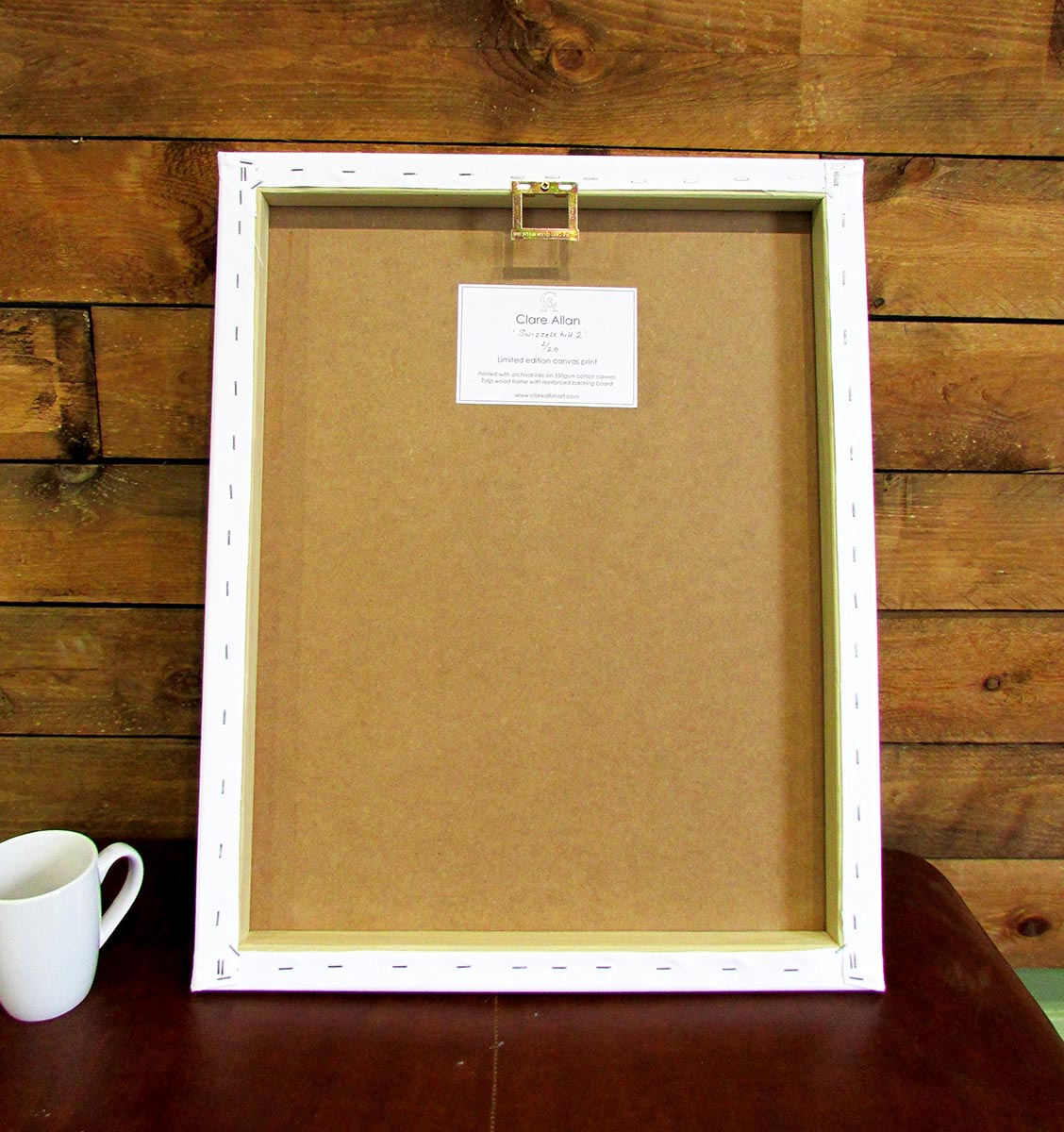 Back of a canvas frame