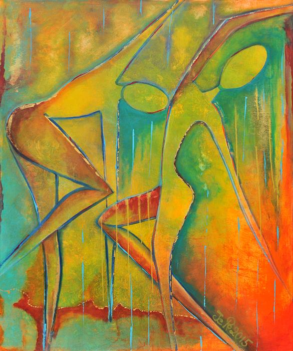 zwei Seelen tanzen den Tanz des Lebens