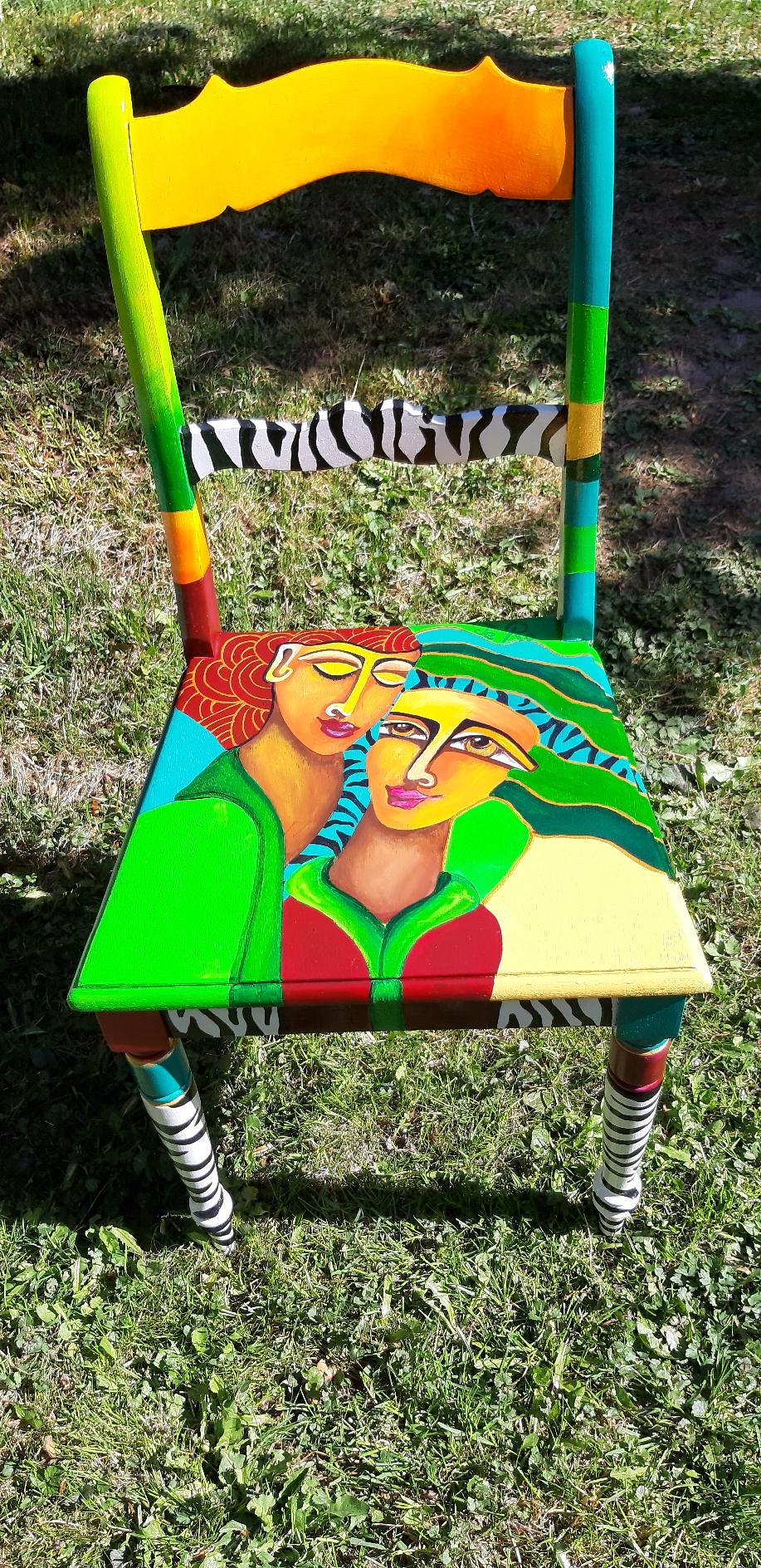 Bemalter Stuhl 250 Euro