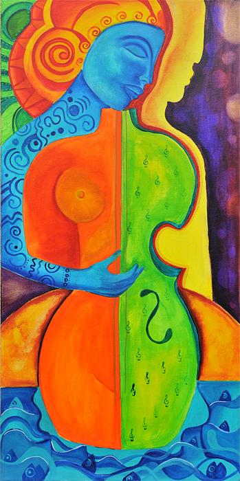 Eine Frau ist der Klangkörper für Ihre eigenen Lieder